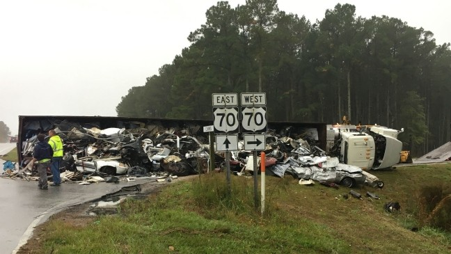 Accident on Highway 70 backs up traffic | WCTI