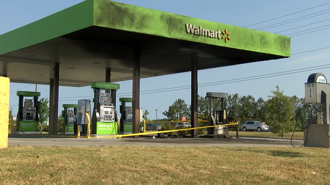 Walmart Gas Station Near Me >> Two Vehicles Pumps Burn At Walmart Gas Station In Jacksonville Wcti