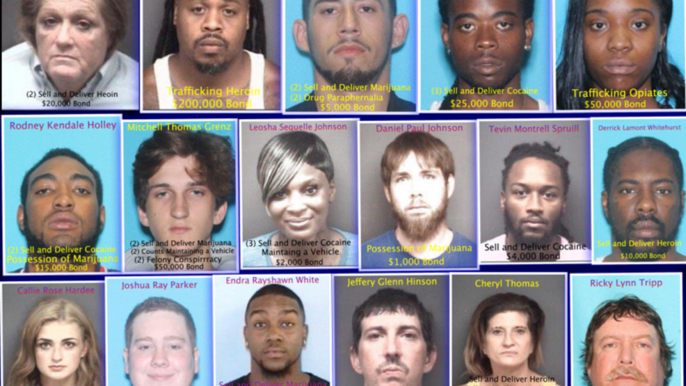 Pitt County Sheriff's Office arrests 17 during illegal drug