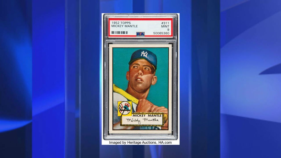 Report 1952 Mickey Mantle Baseball Card Sells For 288 Million Wcti