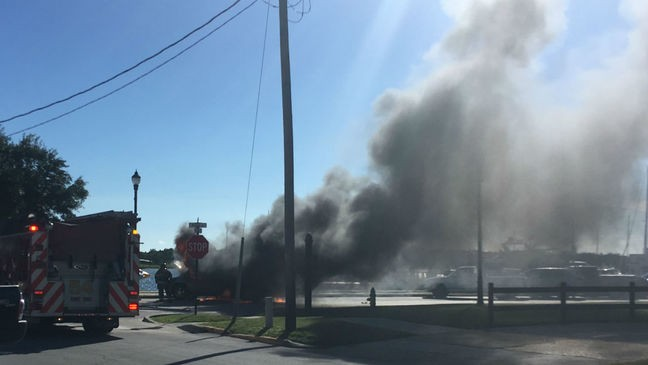 Nobody injured when SUV catches fire in Beaufort | WCTI